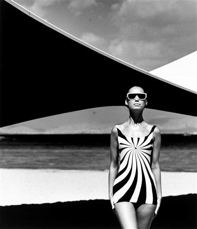 Op-Art-Design, Brigitte Bauer, Athen , 1966