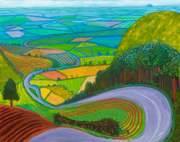 Garrowby Hill, 1998 oil on canvas, 60x76 in.