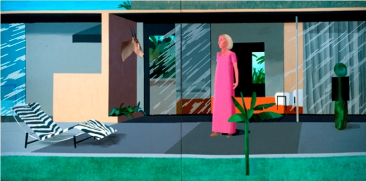 Beverly Hills Housewife, 1966 acrylic on 2 canvas, 72x144 in.