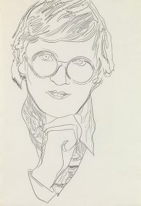 'David Hockney' by Andy Warhol, 1974