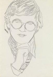 'David Hockney' by Andy Warhol, 1974