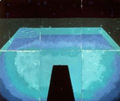 Schwimmbad Mitternacht (Paper Pool 11), 1978 colored and pressed paper pulp, 72x85 1/2 in.