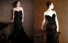 Julianne Moore by Peter Lindbergh as Madame X by John Singer Sargent