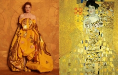 Julianne Moore by Peter Lindbergh as Adele Bloch Bauer I by Gustav Klimt
