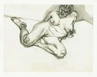 Lucian Freud Girl Sitting, 1987 Radierung, 61 x 77,5 cm © The Lucian Freud Archive/Bridgeman Images UBS Art Collection