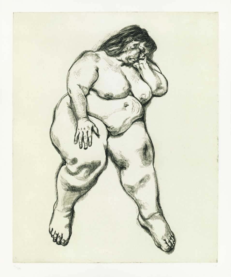 Lucian Freud Large Sue (Benefits Supervisor Sleeping), 1995, Radierung, 82,5 x 67,3 cm © The Lucian Freud Archive/Bridgeman Images UBS Art Collection