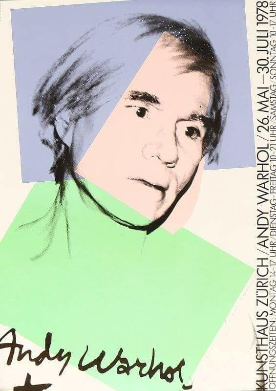 Andy Warhol 1978 im Kunsthaus Zürich
