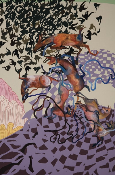 Shahzia Sikander, A collaboration with The Fabric Workshop and Museum The Illustrated Page (detail), 2005-06