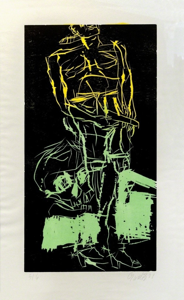 Big Night VI (Remix), 2008-2010 Woodcut (with different versions of colours)-min