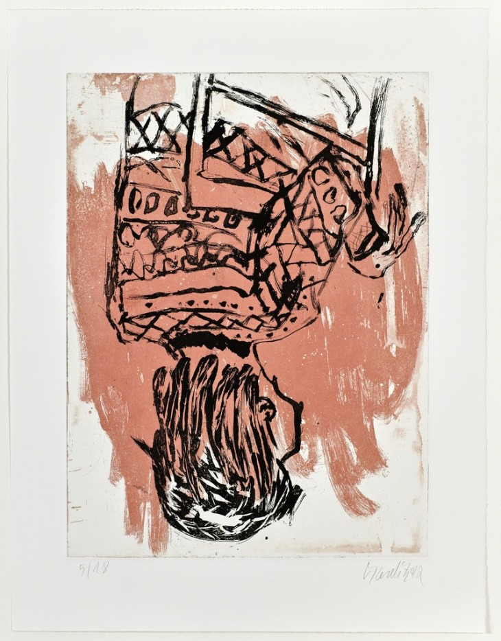 Georg Baselitz, Norweger rückwärts : Nowegian backwards I, 2013