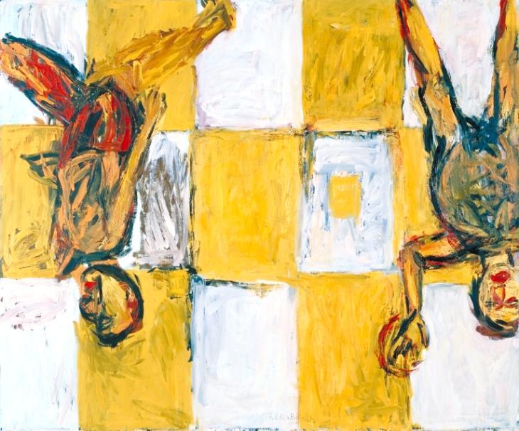 Georg Baselitz Adieu 1982