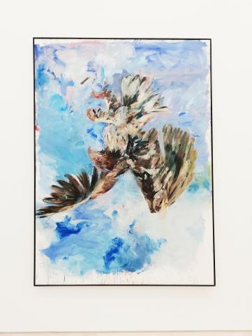 """""""Wir brauchen Vielfalt und Freiheit"""" Georg Baselitz, Fingermalerei Adler, 1972."""
