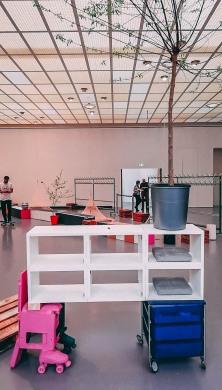 Abraham Cruzvillegas Autorreconstrucción: Social Tissue Work in progress Installation view Kunsthaus Zürich, 2018