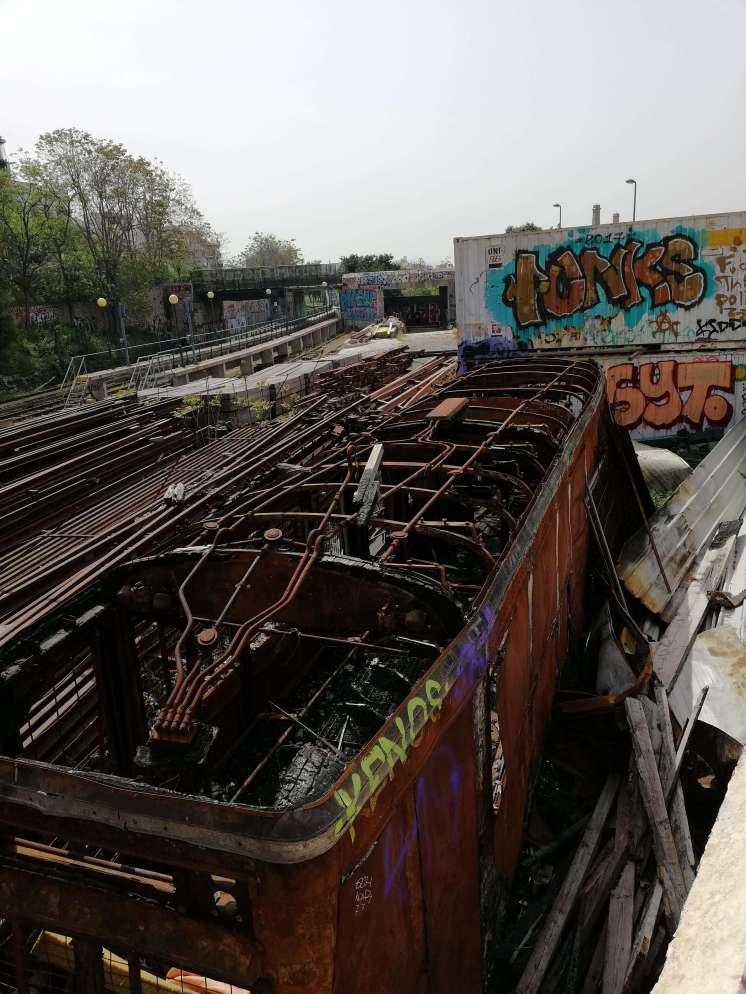 Train wreck at Thiseio