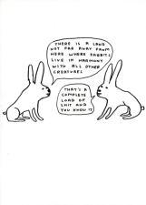 David Shrigley - Rabbits live in harmony