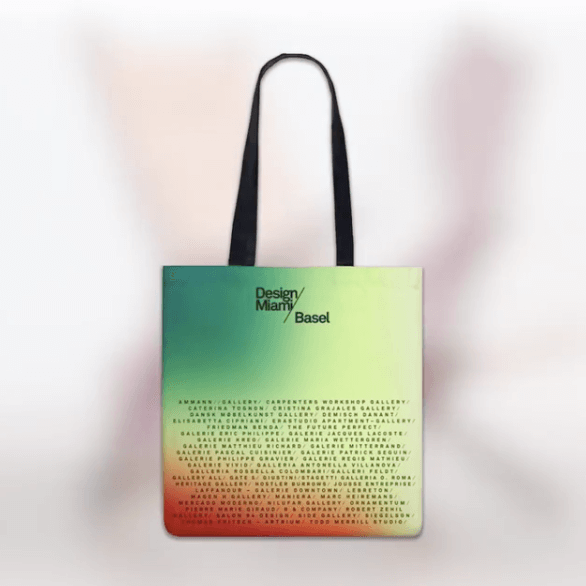 The 2018 Design Miami tote bag by François Halard.
