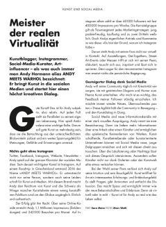 Meister der realen Virtualität