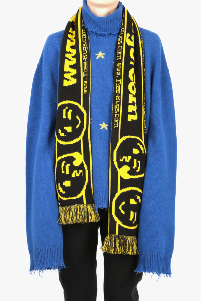 vetements scarf knitted black:yellow