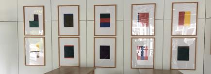 Günther Förg (1952-2013), Untitled, Serie von 10 Bildern farbige Tinte auf Papier, 1987, Kunstsammlung AXA Konzern AG Köln