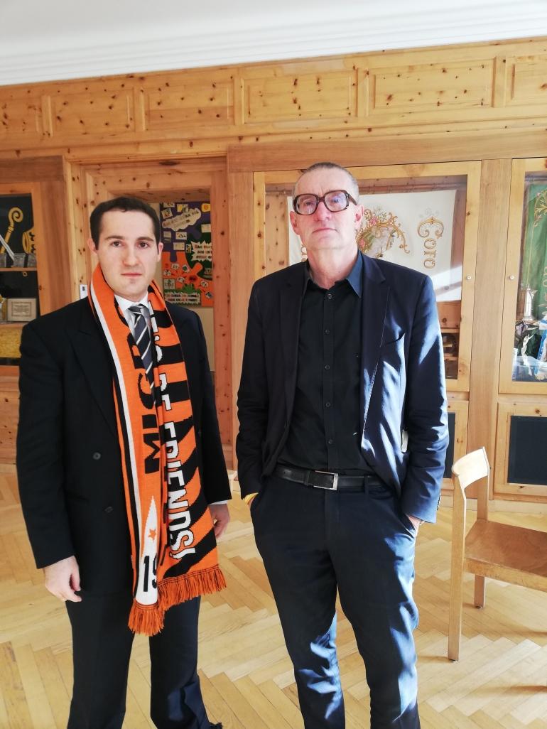 Andy meets Thomas Hirschhorn