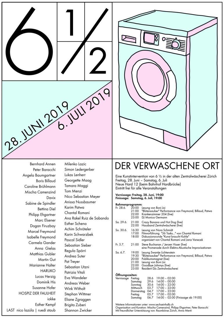 Eine Kunstintervention von 6 1:2 in der alten Zentralwäscherei Zürich