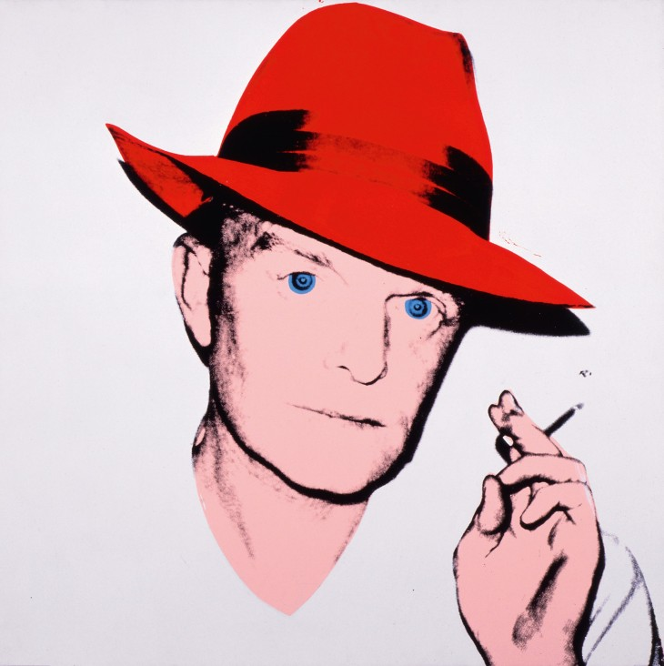 Andy Warhol, Truman Capote, 1979, acrylic and silkscreen ink on linen, 40 × 40 inches (101.6 × 101.6 cm). The Andy Warhol Museum, Pittsburgh, Founding Collection, contribution Dia Center for the Arts 1997.1.11b