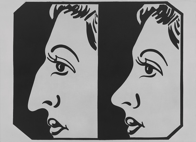 Andy Warhol, Before and After [4], 1962, acrylic and graphite on linen, 72 ⅛ × 99 ¾ inches (183.2 x 253.4 cm). Whitney Museum of American Art, New York, purchase with funds from Charles Simon, 71.226