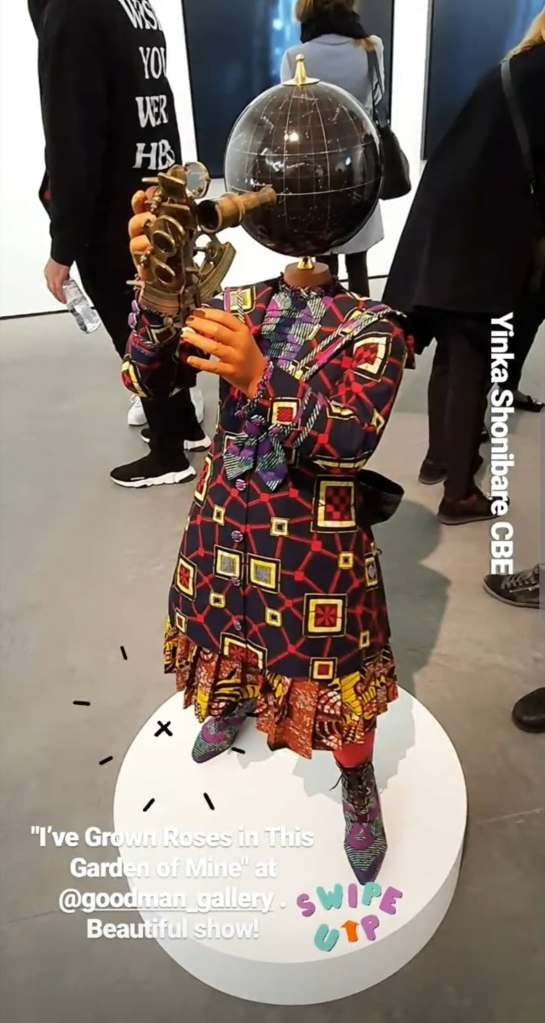 "Yinka Shonibare CBE's work at the ""I've Grown Roses In This Garden Of Mine"" group show"
