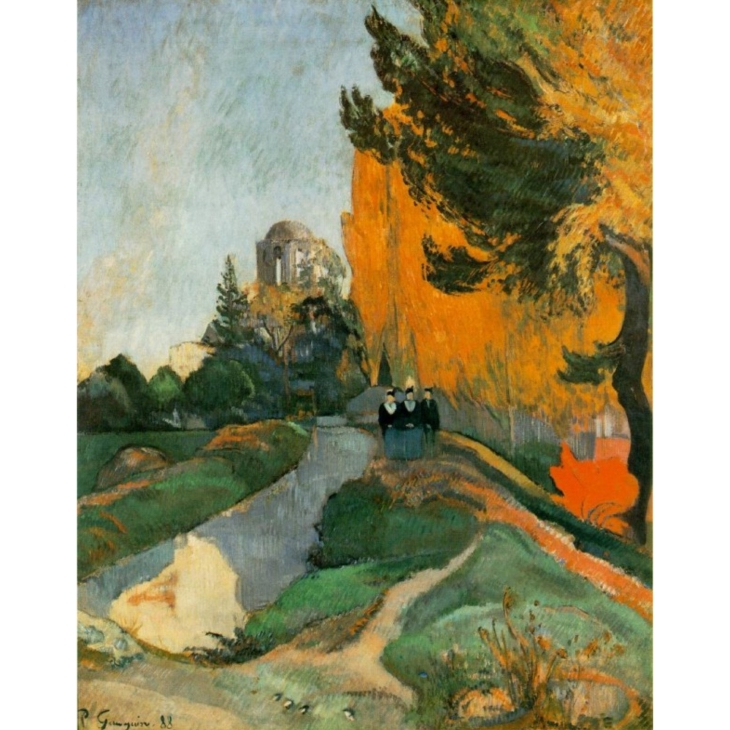 Paul Gauguin, Landscape in Arles near the Alyscamps, 1888, @museeorsay