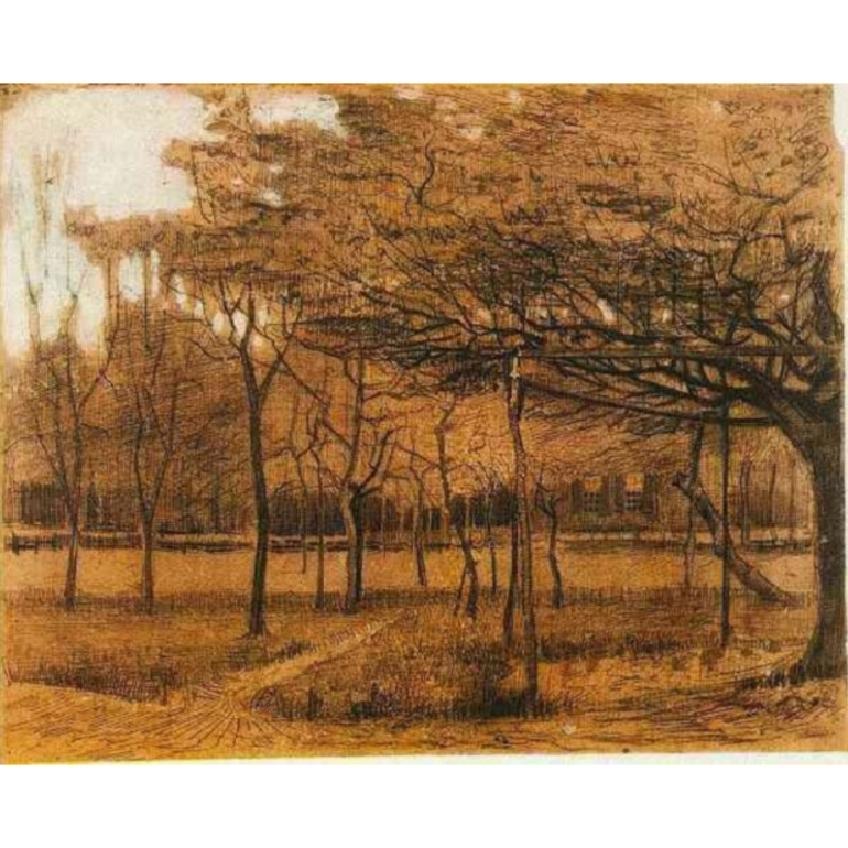 Vincent van Gogh, Landscape with Trees, 1881, @boijmans, Rotterdam, Netherlands