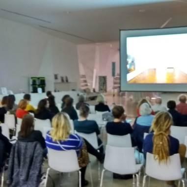 "Artist Talk ""Simon Starling"" at Aargauer Kunsthaus in full swing."