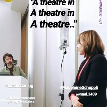 Artist Talk: Simon Starling & Madeleine Schuppli, Direktorin Aargauer Kunsthaus. Source: Insta Stories @andymeetswarhol