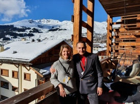 Sonja Glavas, Marketing Director La Prairie, Andy Hermann
