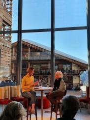 Jessica Morgan, Dia Art Foundation & Joan Jonas at Verbier Art Summit 2020.