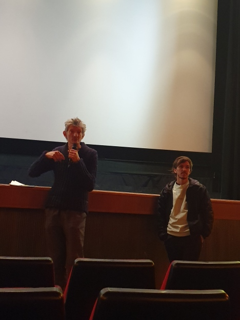 Art film screening at Verbier cinema: Andrea Lissoni & Eduardo Williams, two of his films we watched