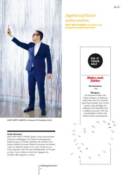 Andy Meets Warhol im Viva Magazin Helvetia Versicherung