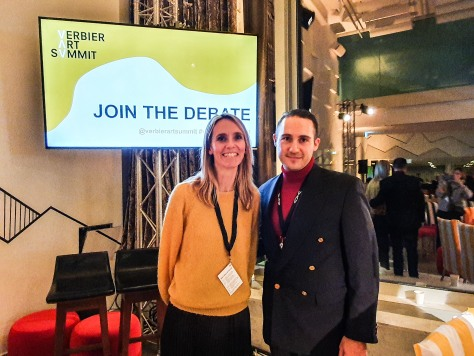 Anneliek Sijbrandij, Founder Verbier Art Summit & Andy Hermann