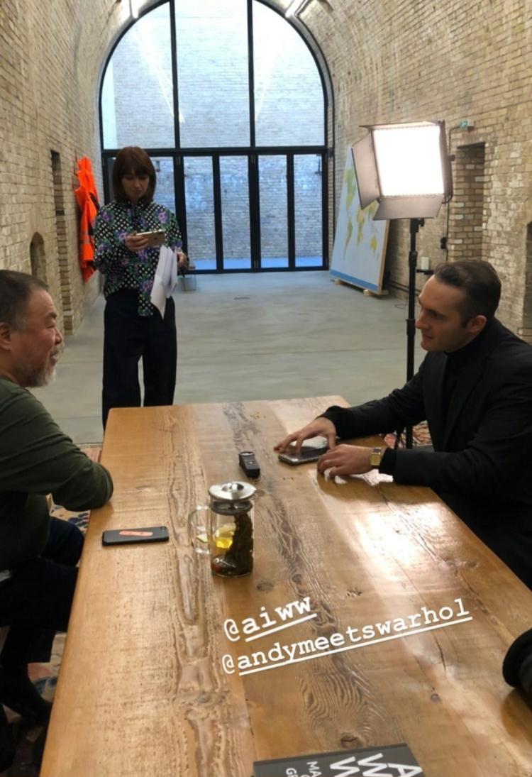 Meeting Ai Weiwei; Photo: Inna Schill
