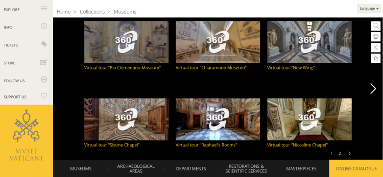 Vatican Museums' virtual tour