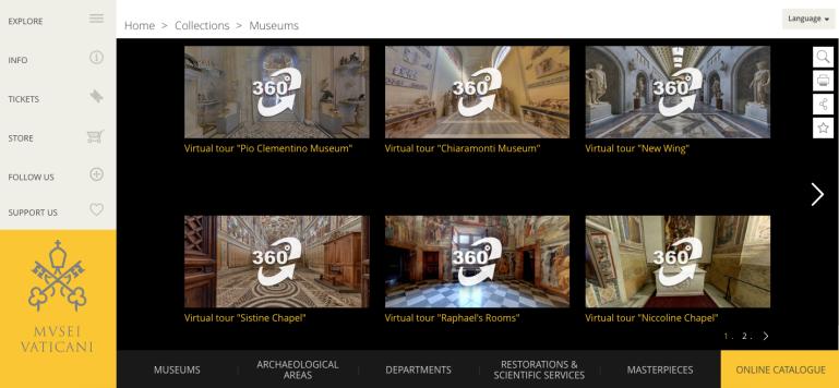 Vatican Museums' virtual tour