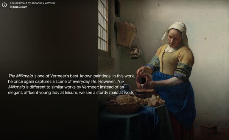 The interactive tour of Rijksmuseum, Amsterdam
