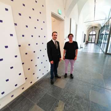 Andy Hermann with MASI curator Cristina Sonderegger