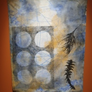 """Six moons, water sky by Judy Watson """"As soon as you start channelling who you are into your artwork, you will have more inner strength and be able to deal with adversity."""" -Judy Watson"""