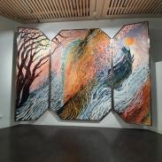 Jérémy Demester Retable of Weidigen, Aka the Devil's daughter, 2018. More on the work here: https://www.kunst-in-weidingen.de/de/veranstaltungen/jeremy-demester-2018