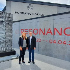 In front of the foundation Andy Hermann with Bérengère Primat