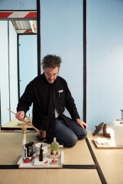 Ausstellungsansicht, Tom Sachs: Tea Ceremony, The Noguchi Museum, Queens, NY, 2016, Foto: Studio Tom Sachs, © Tom Sachs